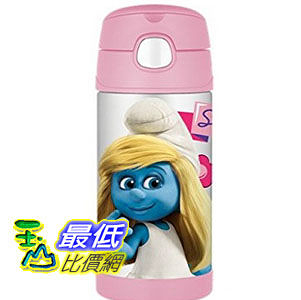 [103美國直購] Thermos 兒童保溫水壺 Smurf Movie Funtainer Beverage Bottle, 12-Ounce, Pink F4013SMTRU6 $1224