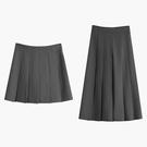 百褶裙半身裙女中長款秋冬季2021年新款小個子高腰黑色西裝短裙子 錢夫人小鋪