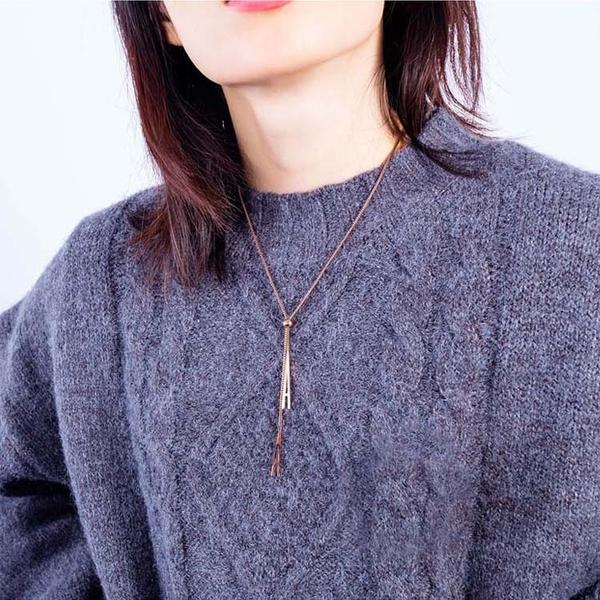 【5折超值價】時尚精美日韓風格長鏈造型女款鈦鋼項鍊