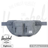 Herschel 腰包  灰色  單肩雙口袋側背包 Eighteen-919 MyBag得意時袋