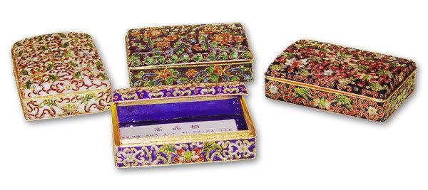 景泰藍 名片盒..也可當辦公桌上收納盒