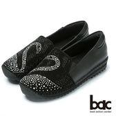 ★新品上市★【CUMAR】時尚品味鑽石真皮樂福鞋(黑)