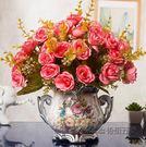 歐式仿真干花客廳家居擺設盆栽套裝飾品擺件室內餐桌茶幾塑料假花 美芭