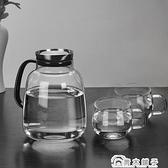 大容量冷水壺家用涼水壺耐高溫泡茶壺北歐創意客廳耐熱玻璃杯套裝 青木鋪子