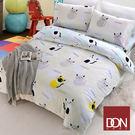 加大四件式純棉兩用被床包組-DON笨笨貓
