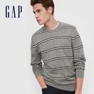 Gap男裝 時尚撞色條紋針織衫 592900-灰色條紋