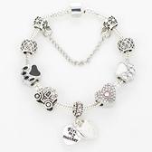 串珠手鍊-鑲鑽飾品華麗精緻生日情人節禮物女配件73bf55【時尚巴黎】
