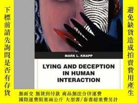 二手書博民逛書店Lying罕見And Deception In Human Interaction-人際交往中的謊言與欺騙Y4