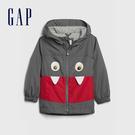 Gap男幼童 童趣立體動物造型拉鍊連帽外套 616953-灰色