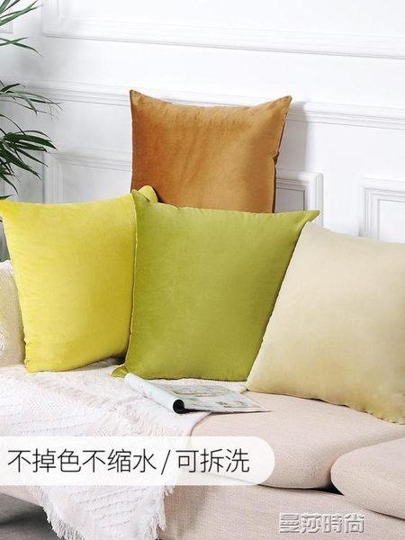 枕頭沙發抱枕靠墊套客廳辦公室靠枕床頭大靠背汽車護腰枕頭床上 曼莎時尚LX