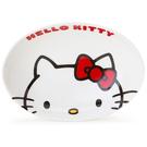 【震撼精品百貨】Hello Kitty 凱蒂貓~HELLO KITTY可愛大臉陶磁咖哩盤 紅蝴蝶結