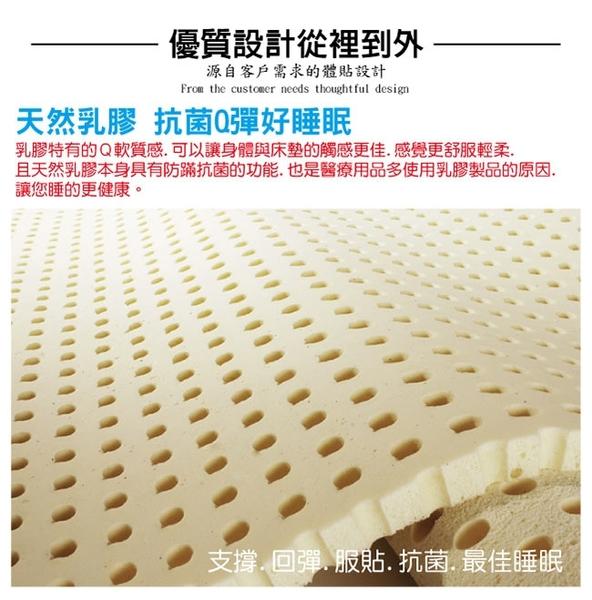 床墊 獨立筒-Ally愛麗-正三線-超涼感抗菌-乳膠蜂巢獨立筒床-雙人5尺-破盤價$7999原價9999