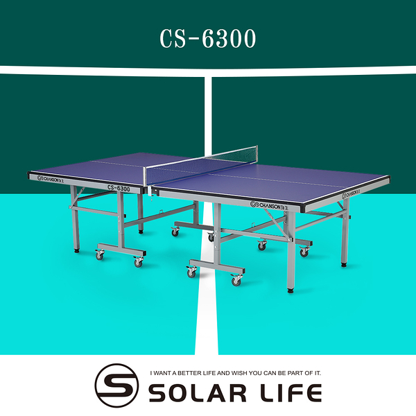 強生CHANSON 標準規格桌球桌CS-6300.乒乓球台18mm板厚桌球檯