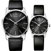 Calvin Klein CK City 極簡LOGO情侶手錶 對錶/43mm+31mm K2G21107+K2G23107