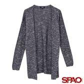 SPAO女款垂墜感長版針織外套-共2色