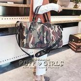 迷彩旅行袋大容量短途旅行包女手提輕便簡約行李包單肩包健身包男