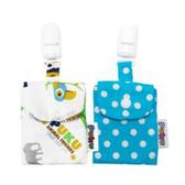 Puku 藍色企鵝 平安符保護袋 (2入)-水色【佳兒園婦幼館】