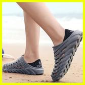 全館83折 夏季防水雨鞋膠鞋防滑洗車工作鞋男士沙灘洞洞鞋戶外溯溪涉水鞋男