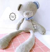 《花花創意会社》英國Papas灰色貴族領結睡眠熊【H5238】