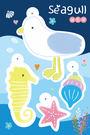 【米力設計】熱縮片鑰匙圈材料包-海鷗與海馬