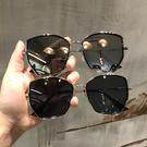 2020複古多邊形顯瘦大框遮陽墨鏡女大圓臉開車度假沙灘太陽眼鏡女 店慶降價