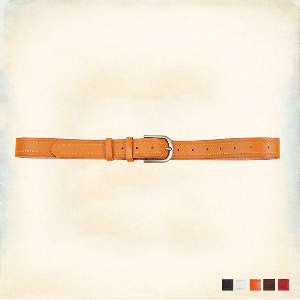 Melek 皮帶 (共5色) 現貨【A01160729-0101~05】女款皮帶簡約雙車線款 皮帶/素色皮帶