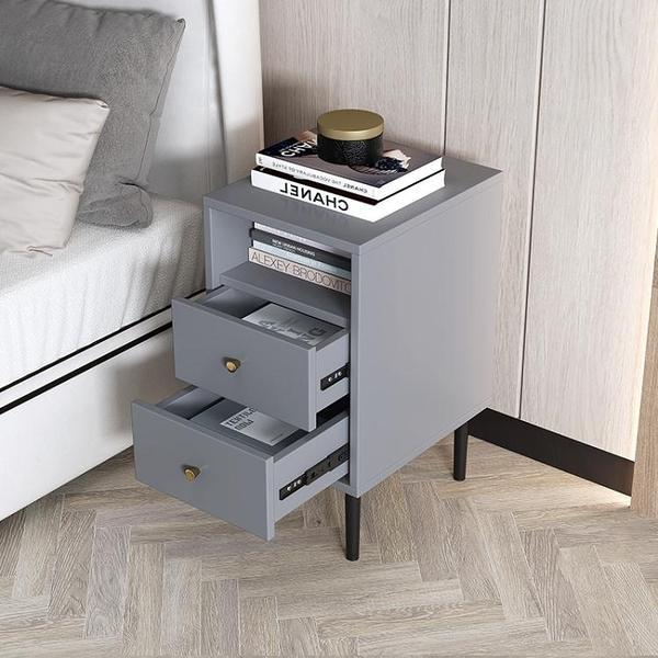 超窄30cm小型床頭櫃臥室迷你網紅簡約現代輕奢風收納小尺寸床邊櫃 青木鋪子「快速出貨」