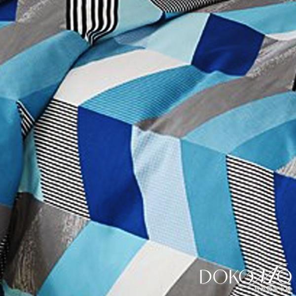DOKOMO朵可•茉《藍色希望》100%MIT台製舒柔棉-標準雙人(6*7尺)百貨專櫃精品薄被套