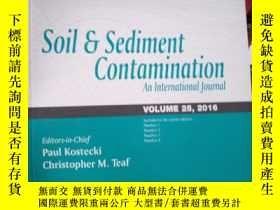 二手書博民逛書店Soil罕見& sediment Contamination A