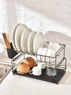 瀝水架 雙層廚房用品碗盤餐具置物架家用放...