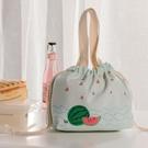 保溫袋 飯盒袋上班族簡約手提袋保溫便當袋子手提包學生飯盒包時尚便當包-Ballet朵朵