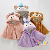 兒童寶寶嬰兒外出防風斗篷披風加厚秋冬款披肩冬季外套女童