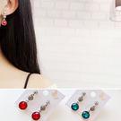 耳環 復古 鑲鑽 水晶 珍珠 甜美 氣質 耳環【DD1711057】 BOBI  11/30