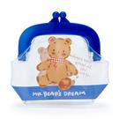 【震撼精品百貨】M.B.D.CLUB_泰迪熊 ~塑膠透明零錢包-藍色