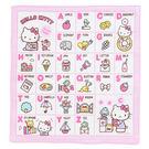Sanrio HELLO KITTY日本製純棉手帕(一起來學ABC)★funbox生活用品★_075647