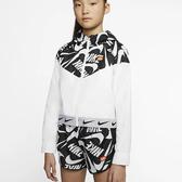 NIKE Sportswear Windrunner 童裝 大童 女童 連帽外套 風衣 輕盈 黑白 【運動世界】 CJ7426-104