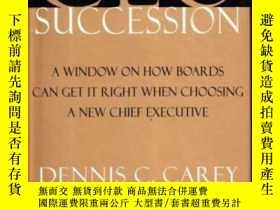 二手書博民逛書店Ceo罕見Succession: A Window On How Boards Can Get It Right