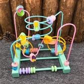 嬰兒玩具6-12個月寶寶益智力繞珠串珠 cf