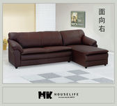 【MK億騰傢俱】AS033-01金沙咖啡色L型沙發組