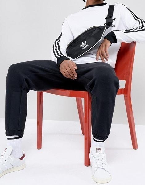 現貨 愛迪達 adidas 三葉草 黑色 腰包 小包 背包 肩包 胸包 CW0609/澤米