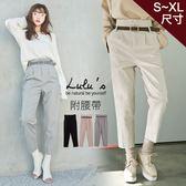 LULUS-Y高腰拉鍊仿羊絨直筒長褲附皮帶S-XL-3色  現+預【04051449】
