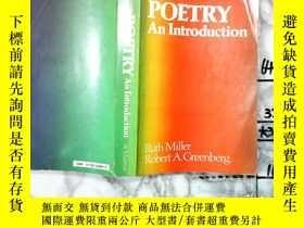 二手書博民逛書店【英文原版】《詩歌導論》Poetry:罕見An Introduc