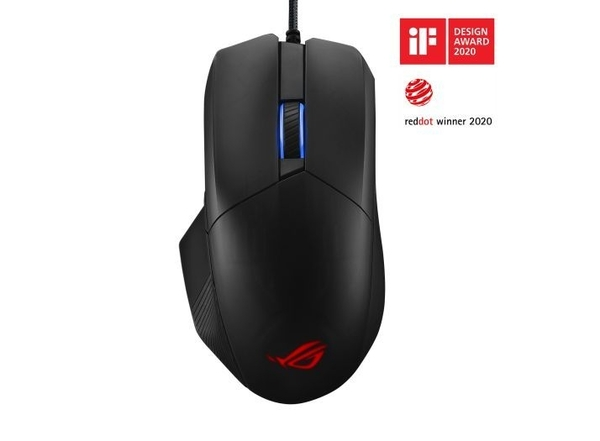 【加贈ROG Strix Slice 電競鼠墊】華碩ASUS ROG Chakram Core 有線光學電競滑鼠