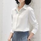 職業雪紡白襯衫女設計感小眾垂感長袖氣質上衣夏季正裝襯衣工作服 【端午節特惠】