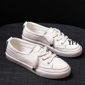 【YPRA】女生小白鞋 小白鞋女淺口真皮百搭板鞋單鞋