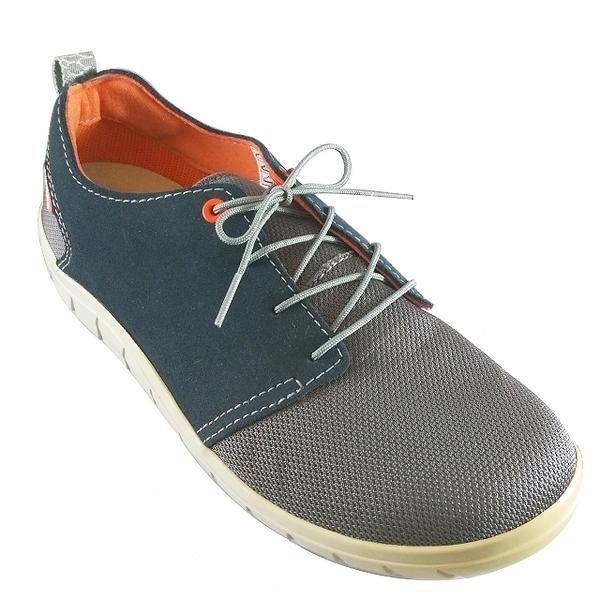 Lizard 凱克 黃金底耐磨休閒鞋 LI12054 藍 義大利製 真皮 CORDURA 輕量 耐磨 時尚 日常 都會【易遨遊】