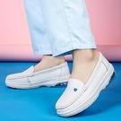 氣墊女士護士鞋女夏天可愛平底軟底鞋透氣不累腳秋天防滑舒適白色 快速出貨