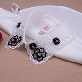 假領子哪裡買襯衫假領片 背後扣寶石款洋裝罩衫大學T針織衫內搭黑色白色[E1484] 預購.朵曼堤洋行
