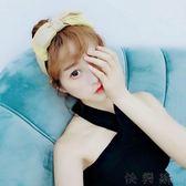 韓范發飾韓范炫彩布藝大蝴蝶結寬邊發箍頭箍女