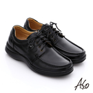 A.S.O 挺力氣墊 舒活頂級牛皮氣墊鞋  黑